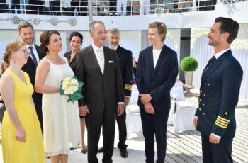 """Ostsee ZDF, 21.50 Uhr: """"Kreuzfahrt ins Glück - Hochzeitsreise an die Ostsee"""""""